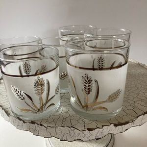 MCM  Coverto Frosted Wheat  Cocktail Glasses. 6